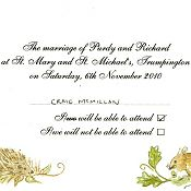 Purdy and Richard's RSVP Card