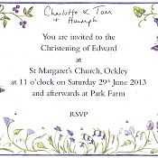 Edward's Christening Invitation