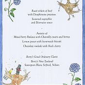 Alastair and Claudia's Wedding Menu Card