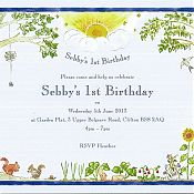 Sebby's First Birthday Party Invitation