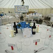 Alastair and Claudia's Table Names, Menu Cards and Name Cards