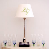 Hand Painted Monogrammed Lampshades