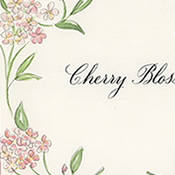 Copperplate Calligraphy Flower Table Names