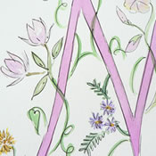 Floral Baby Initials